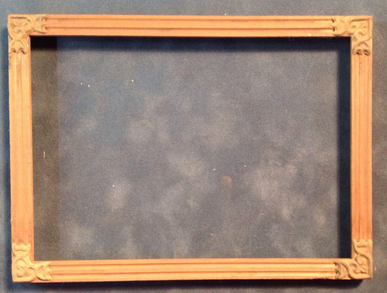 Intagliato a mano legno grezzo antico cornice rettangolare etsy