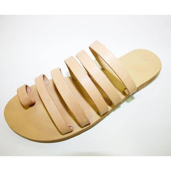 Greek Sandals Handmade Natural Greek Strappy Handmade qTt1xaOwE