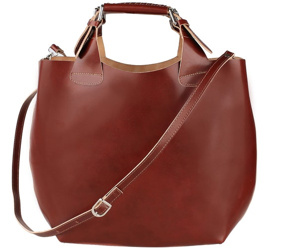 SALE Italian Top Handle Leather Handbag Made in Italy  9088cfc2b36ca