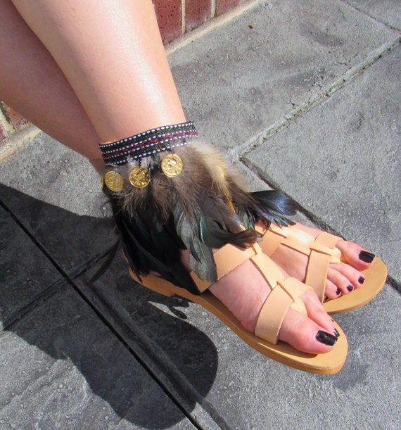 Nouvelles de grec cuir Boho sandales UrF5qwaxU