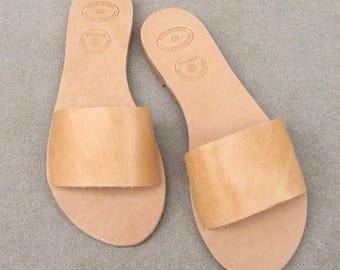 DESPINA sandales en cuir grec / romain sandales / naturel Beige sandales / sandales gladiateur / antique grecques sandales