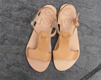 Sandales en cuir grecque APHRODITE / romain sandales / naturel sandales Beige / sandales gladiateur / antique grecques sandales