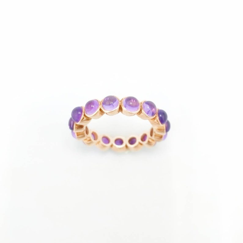 Amethyst bandRing in sterling silver Wedding band Gift for her Bridesmaids gift Contemporary jewels Bohemian jewels Party wear