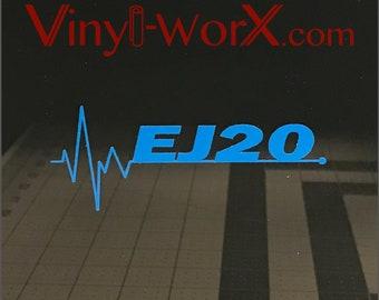 EJ20 Decal Sticker   Subaru Impreza WRX JDM STI Turbo turbocharged Boxer Engine swap swapped Ej205 Ej207 Forester Xt Legacy Gt Gc Rally Car