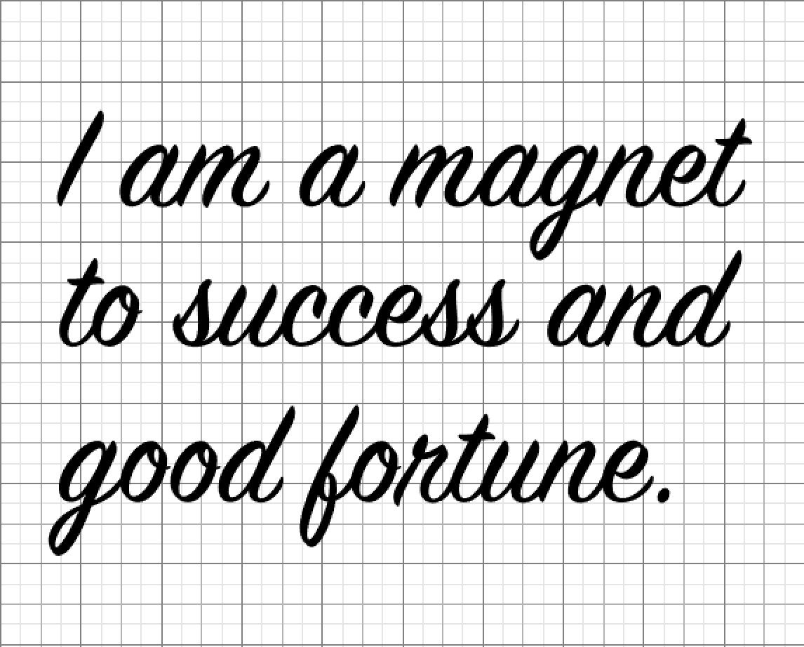 Magnet 2 Success And Good Fortune Positive Affirmation Etsy