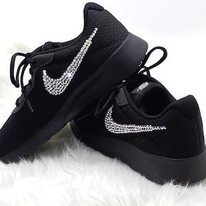 new concept dfdb5 7f848 promo code for black sole nike swarovski sneakersnike tanjun trainers  ladiesrunning shoes black nike rhinestone shoesbling