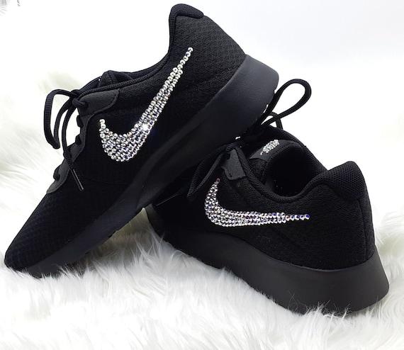 Black Sole Nike Swarovski SneakersNike Tanjun Trainers  81766e783