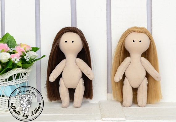 14 cm Blank dolls body Beige blank dolls Doll blank rag doll ragdoll body body of the doll cloth textile doll fabric doll 5,5 inches