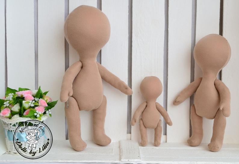 Doll body made of cloth Blank doll body 33cm 13in