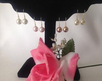 18K Vermeil and 10mm Swarovski Pearl Earrings