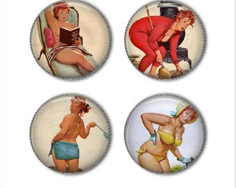Funny chubby pin-up magnets or pins, funny magnets, funny pins, cute magnets, refrigerator magnets, fridge magnets, office magnets