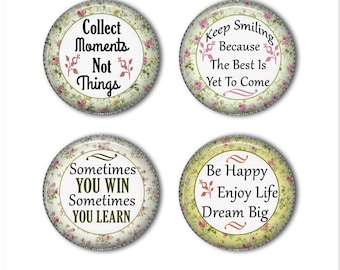Inspirational quotes magnets or inspirational quotes pins, motivational, refrigerator magnets, fridge magnets, office magnets