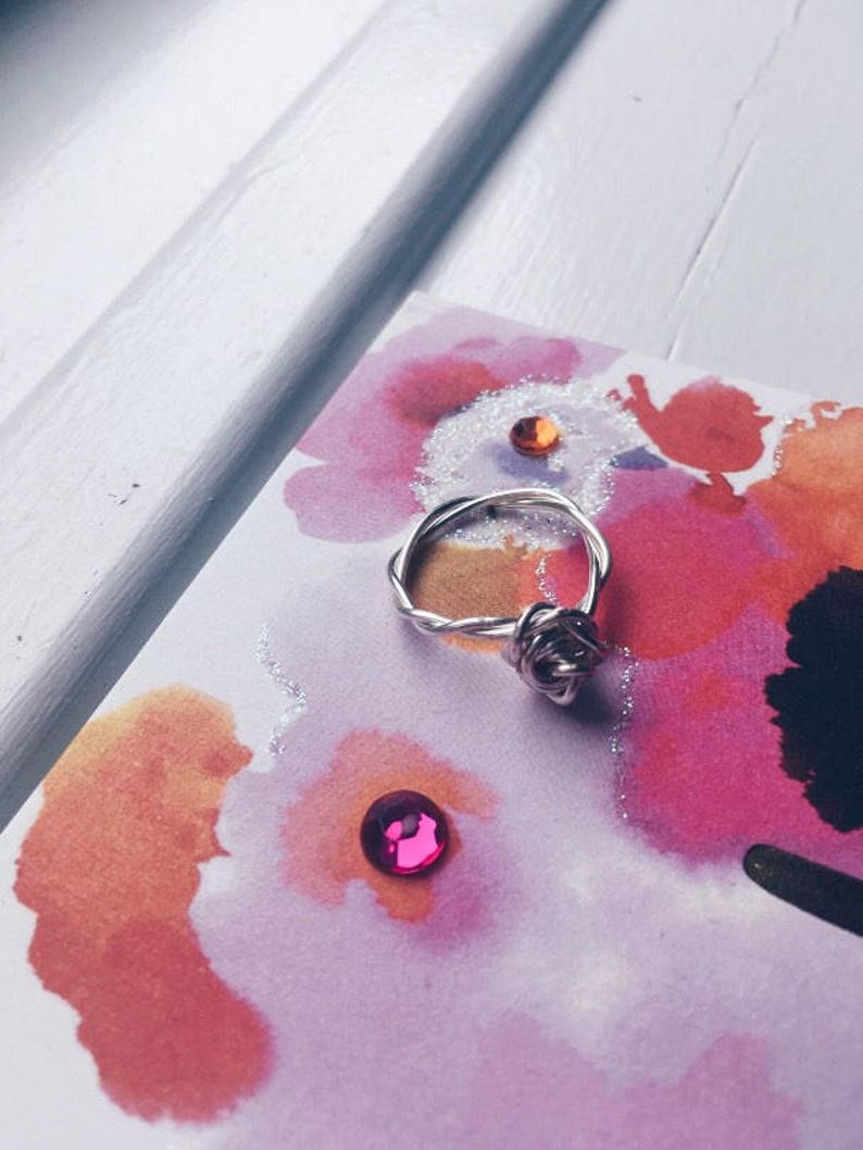 Twisted Dual Wire Rose Ring