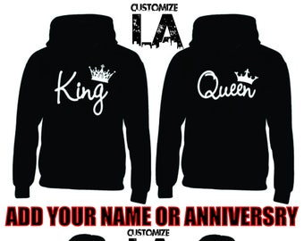 9e1c82fb752fd King and Queen Couple Hoodies