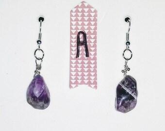 Amethyst Gem Stone Earrings