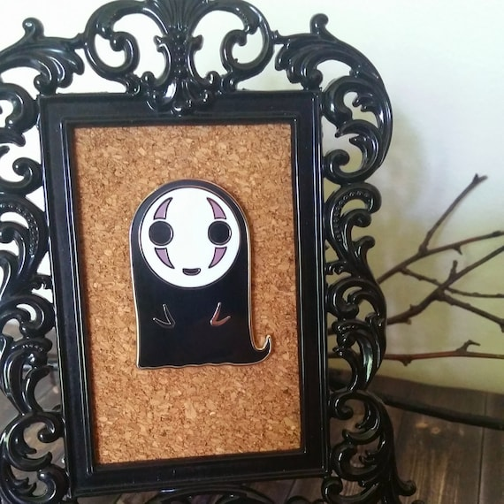 No face studio ghibli enamel pin
