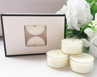 Natural Unscented 100% Soy Wax Tealights - Bulk Buys