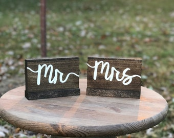 Mr and Mrs Wood Wedding Signs