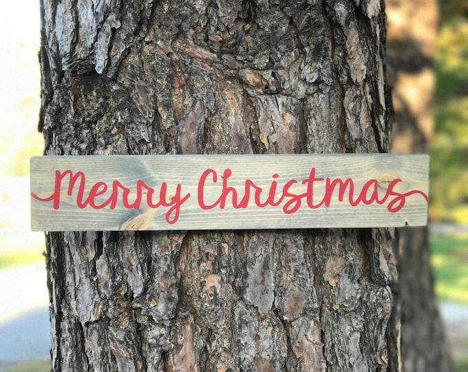Merry Christmas Wood Sign / Rustic Christmas Sign/ Merry Christmas Y'all / Farmhouse Christmas / Holiday Wood Sign / Vintage Christmas Sign