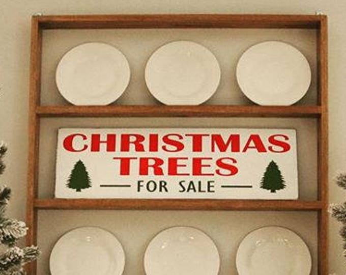 Christmas Trees For Sale Wood Sign / Distressed Christmas Sign / Vintage Christmas Tree Farm Sign / Fixer-Upper Christmas Tree Sign