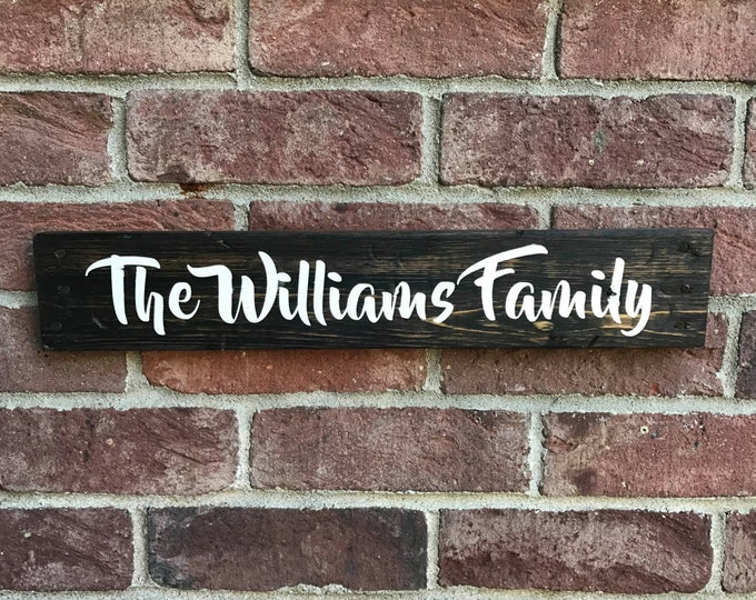 Personalized Family Name Sign / Last Name Wood Sign / Custom Name Sign / Personalized Wedding Gift / Anniversary Gift