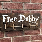 Free Dobby Laundry Room Sign / Potter Sign / Lost Sock Holder  / Wizards & Magic / Save Dobby / Free Elf / Funny Teen Gift for her