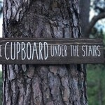 The Cupboard Under The Stairs Wood Sign / Wizards & Magic / Wooden Potter Sign / Cute Housewarming Gift