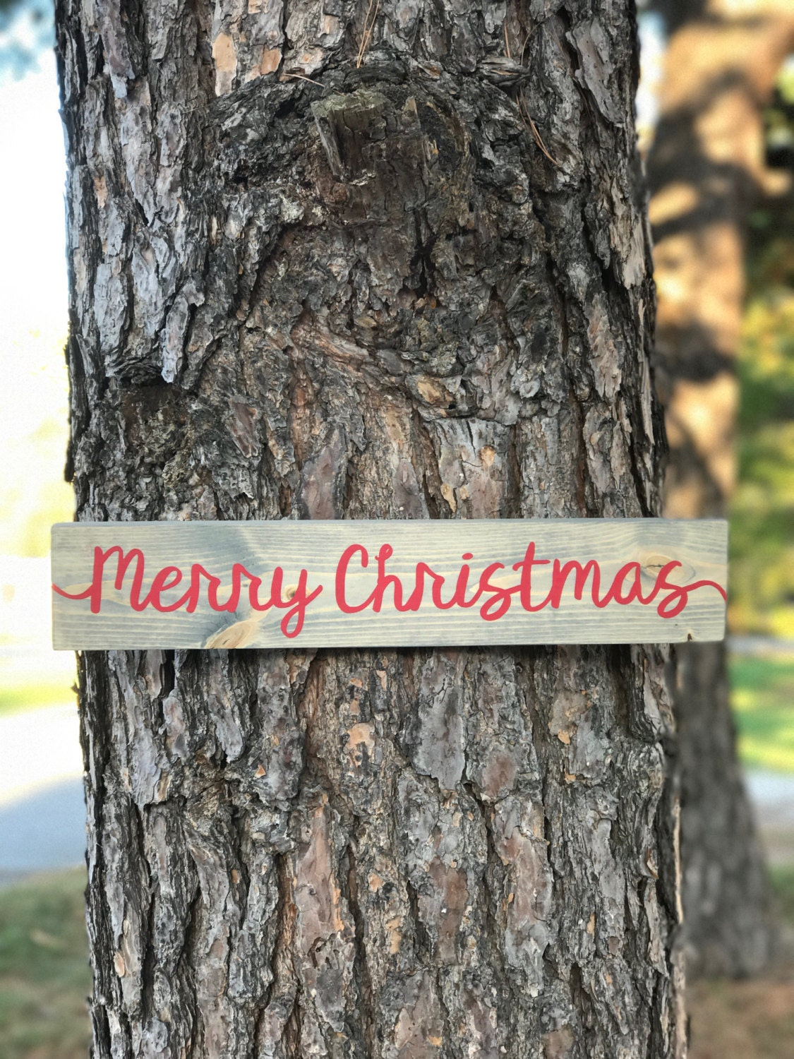 Merry Christmas Wood Sign Rustic Yall Farmhouse Holiday Vintage