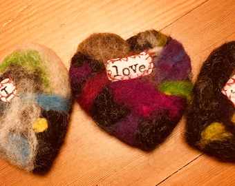Felt Hearts with Heart-Felt Messages - Multiples