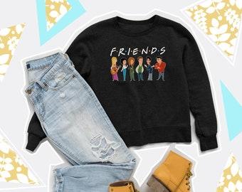 827808930 Cartoon Friends Sweatshirt Tumblr Clothing Friends TV Show Sweater Movie  Jumper Friends tv Series Sweater Friends tv Series Sweater PA3045