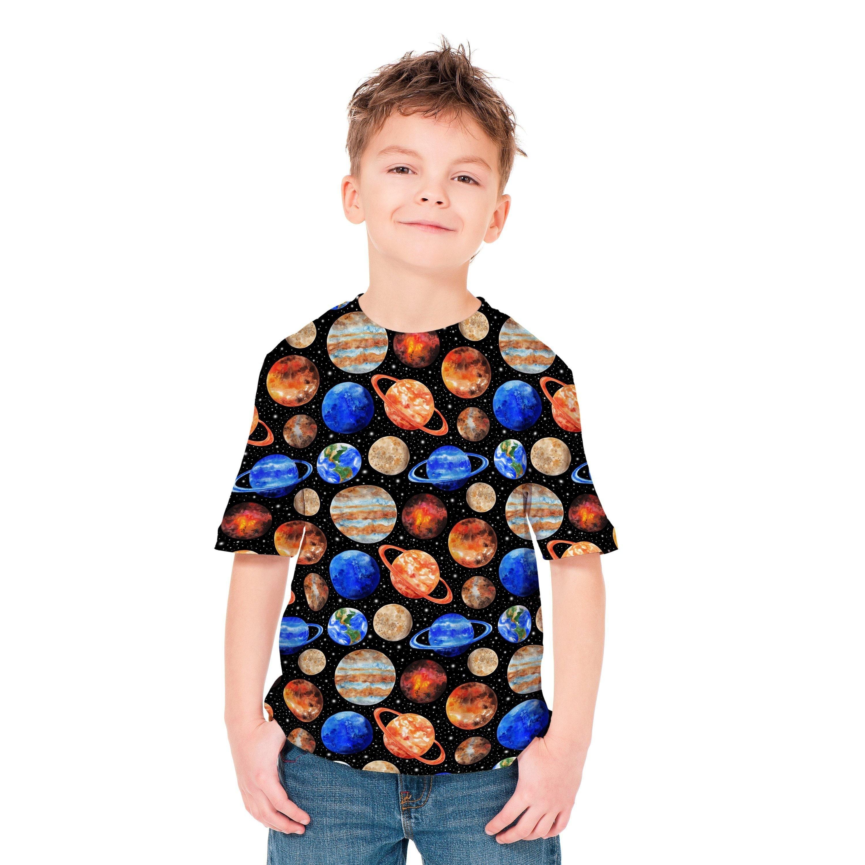 c965dd00 Space Shirt Graphic Tee Tshirt Planets Kids Clothes Full | Etsy