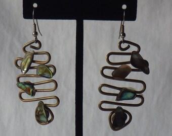 Vintage Dangling Alabaster Earrings