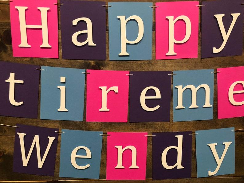 Happy Retirement Decor Happy Retirement Bannner Retirement Banner Retirement Party