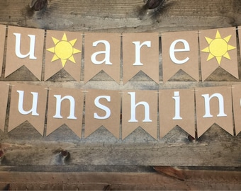 You Are My Sunshine | You Are My Sunshine Banner | You Are My Sunshine Garland | You Are My Sundhine Baby Shower Decor |
