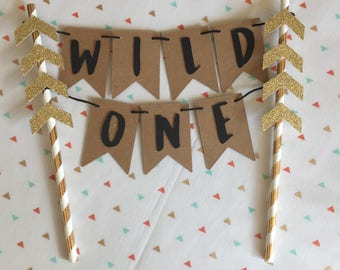 Wild One Cake Topper | WILD ONE | First Birthday Cake Topper | Wild One Smash Cake Topper | Where The Wild Things Are Cake Topper |