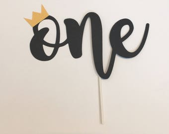 One Cake Topper With Crown | Crown Cake Topper | Smash Cake Topper | Wild One Cake Topper | Wild First Birthday | Where The Wild Things Are|