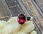 1.64ct Rhodolite Garnet Silver Ring