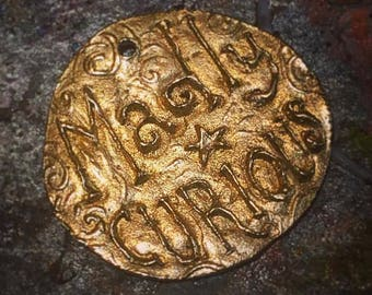 Madly Curious Coin/Pendant (BRONZE)