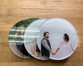 Printed Acrylic Coasters Personalized Photo Coasters Great Family Gift