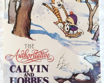 "Vintage ""The Authoritative Calvin & Hobbes, A Calvin and Hobbes Treasury"", Bill Watterson, Scholastic Edition, 1990's"