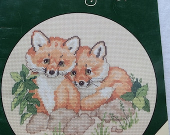 Vintage Designs by Gloria & Pat Endangered Young'uns Pattern Leaflet, Book 79, Morehead Inc., Cross Stitch Baby Animals, 1991
