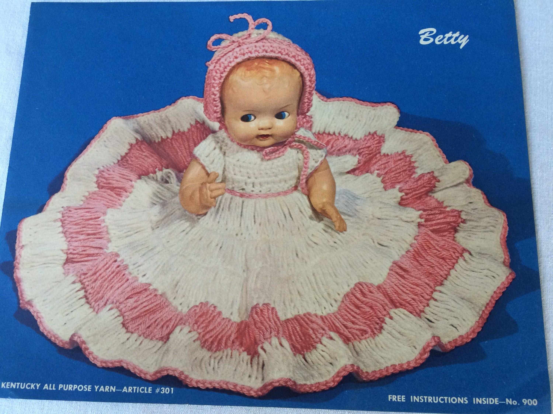 Betty Blue Crocheting Pattern for 18 inch dolls