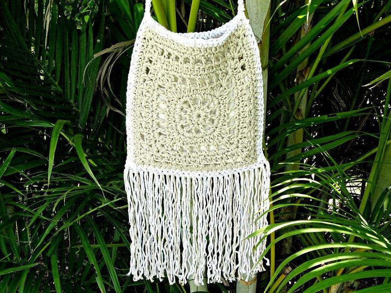 0f5cf143e6 Crochet Tassel Bag Fringe Boho Handbag Festival Tote Bag   Etsy