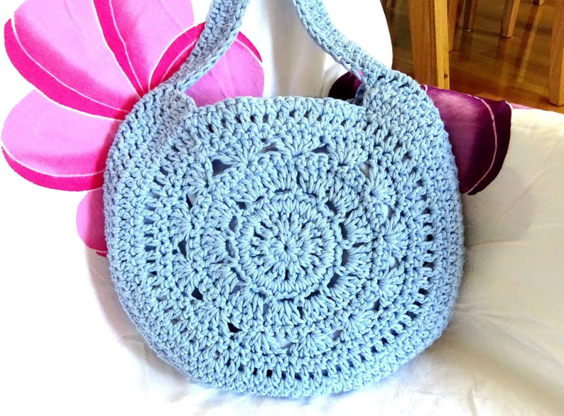 Easy Crochet Bag Pattern Diy Bag Pattern Tutorial Pdf Etsy