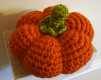 Large Handmade Crochet Amigurumi Halloween Pumpkin Decoration
