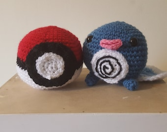 Amigurumi Crochet Pokeball & Poliwag-Pokemon Set of 2