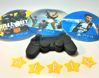 playstation Cake Topper Edible Personalised Birthday Decoration