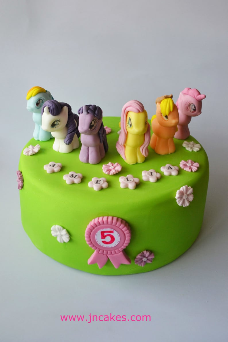 Image 0 My Little Pony Cake Toppers Edible Birthday Decoration Source Friendship