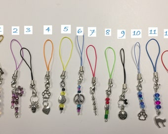 Zipper Pulls, Cell Phone Charms