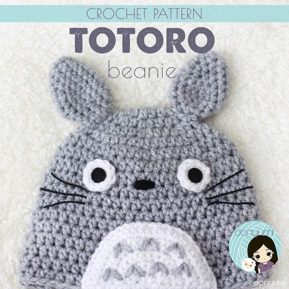 My Neighbor Totoro Beanie Hat Crochet Pattern Etsy